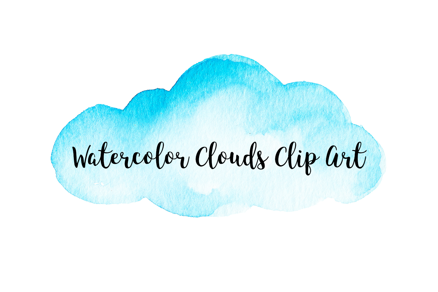 Watercolor clouds clipart jpg freeuse stock Watercolor Clouds Clip Art, Watercolor Clouds PNG jpg freeuse stock