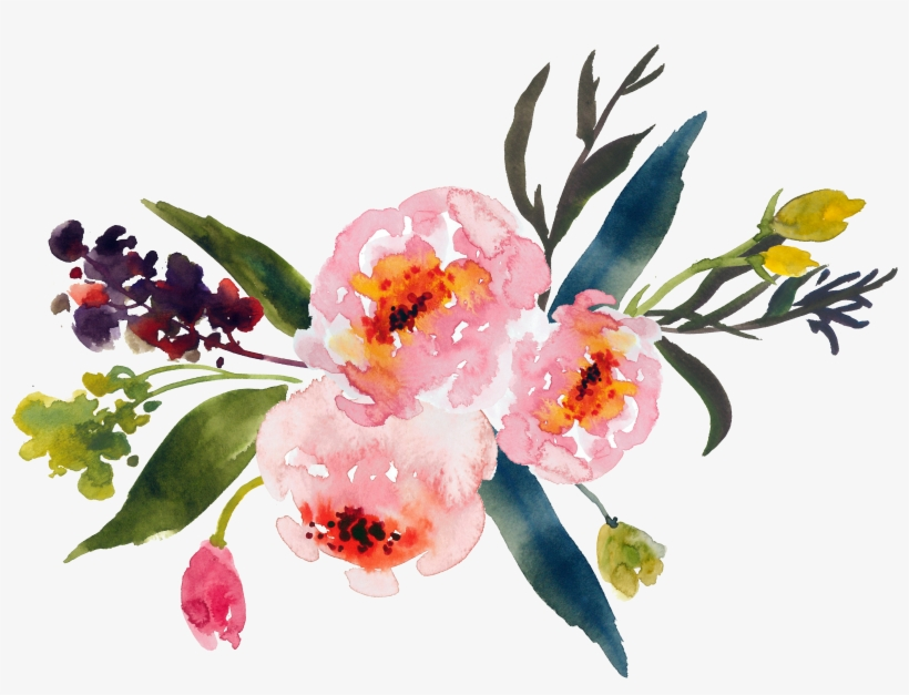 Watercolor corner bouquet clipart clipart royalty free Flower Bouquet Watercolor Painting Clip Art - Watercolor ... clipart royalty free