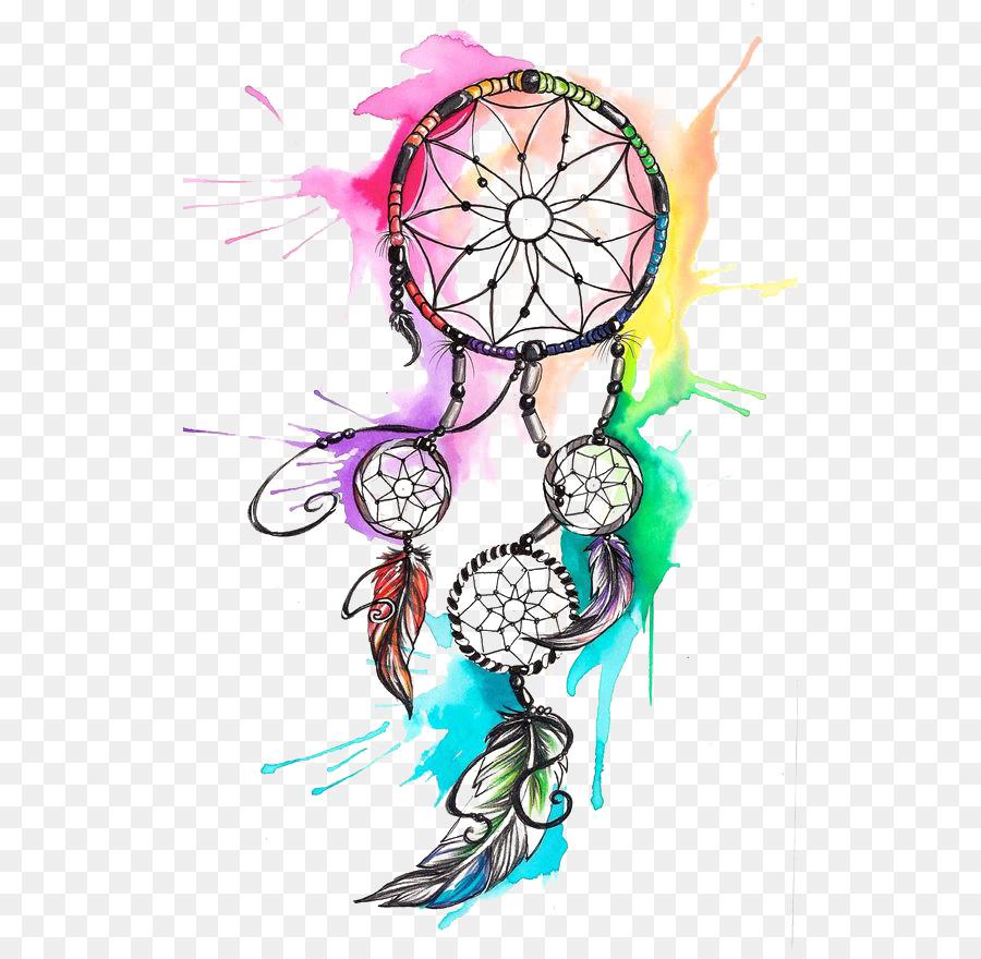 Watercolor dreamcatcher clipart banner transparent Bird Line Drawing png download - 564*870 - Free Transparent ... banner transparent