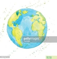 Watercolor earth clipart png download Hand Drawn Watercolor Earth, Isolated Vector stock vectors ... png download
