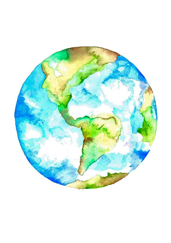 Watercolor earth clipart image freeuse library Watercolor Earth at PaintingValley.com   Explore collection ... image freeuse library