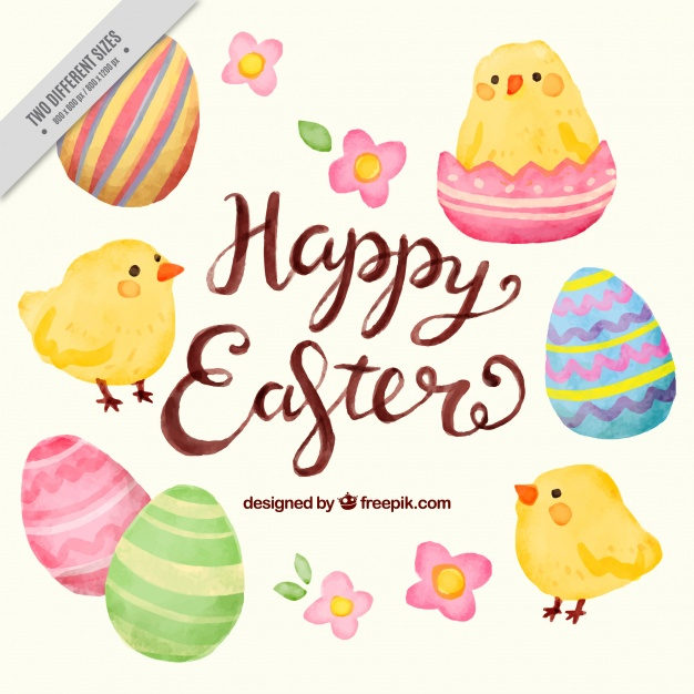 Watercolor easter free clipart svg library stock Background of pretty easter watercolor elements Vector ... svg library stock