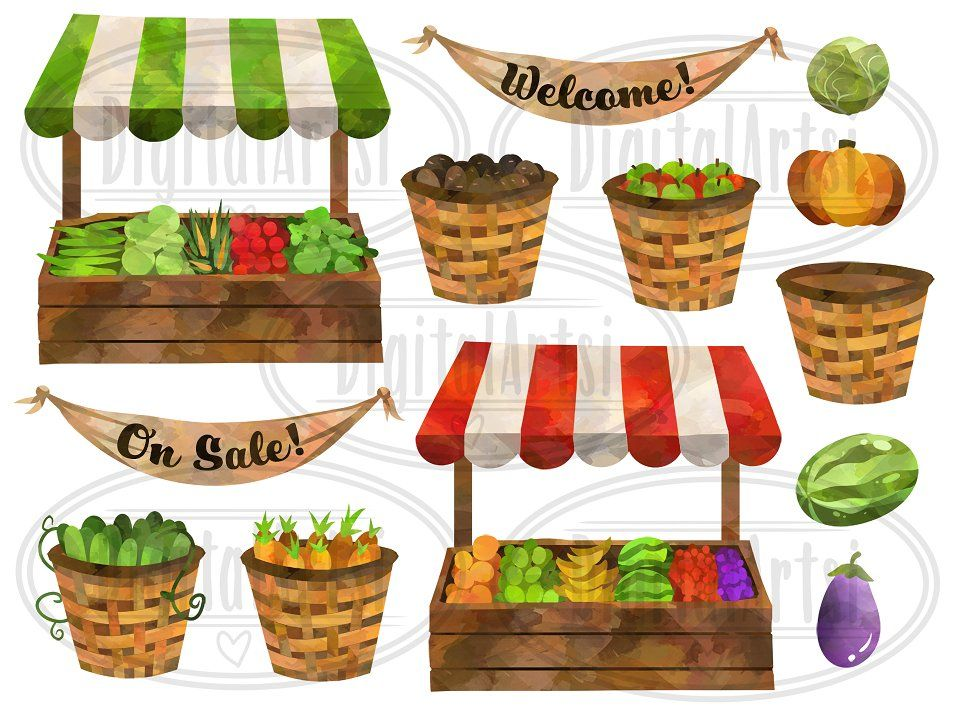Watercolor farmers market clipart jpg transparent stock Pin by Antiraman on Mockup. PSD in 2019 | Fruit stall ... jpg transparent stock