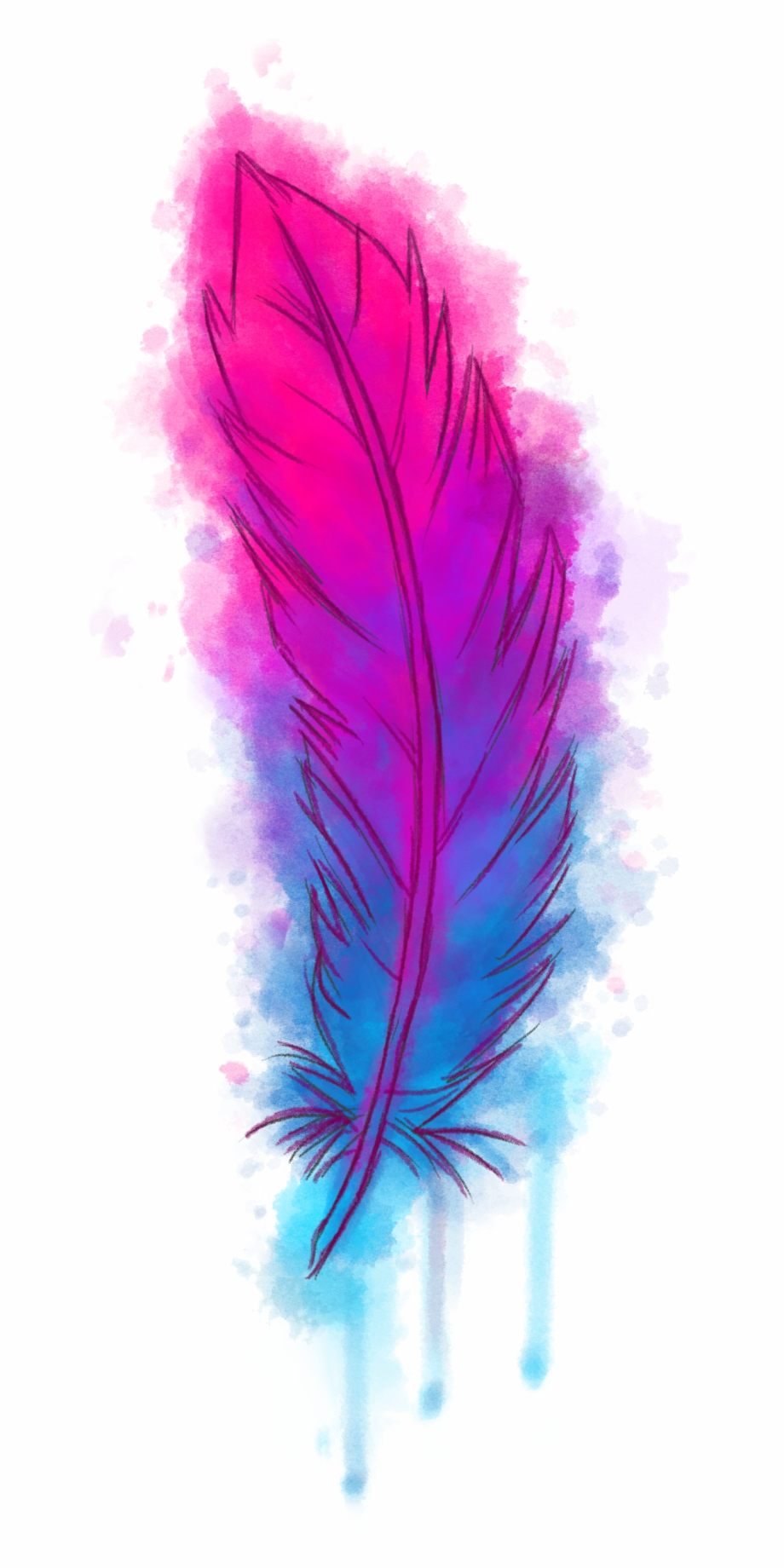 Watercolor feather heart clipart clipart library library Download Watercolour Png Transparent - Transparent ... clipart library library