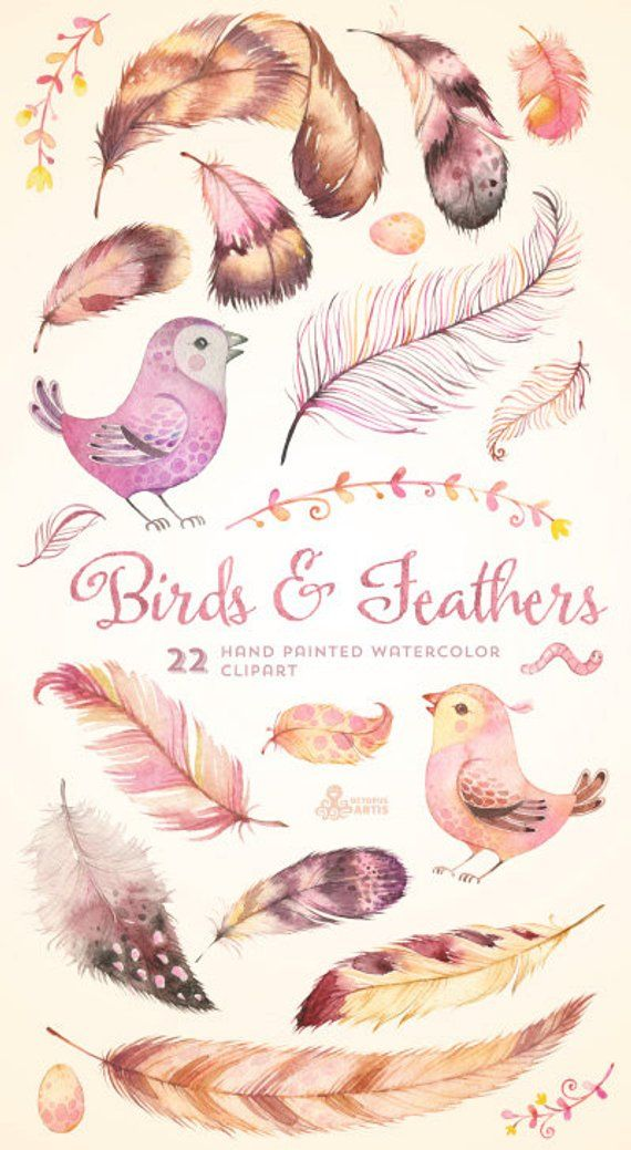 Watercolor feather heart clipart graphic free Birds & Feathers Clipart, Heart. Valentine watercolor ... graphic free