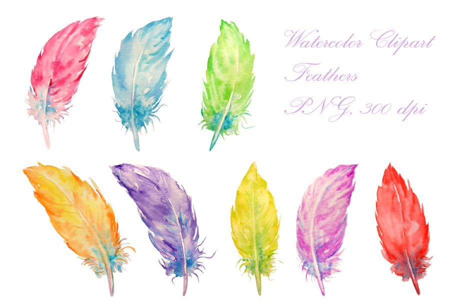 Watercolor feathers clipart png freeuse stock Watercolor Feathers Clipart png freeuse stock