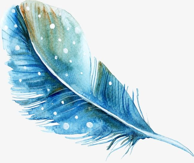 Watercolor feathers clipart svg download Blue Hand-painted Watercolor Feather PNG, Clipart, Blue Hand ... svg download