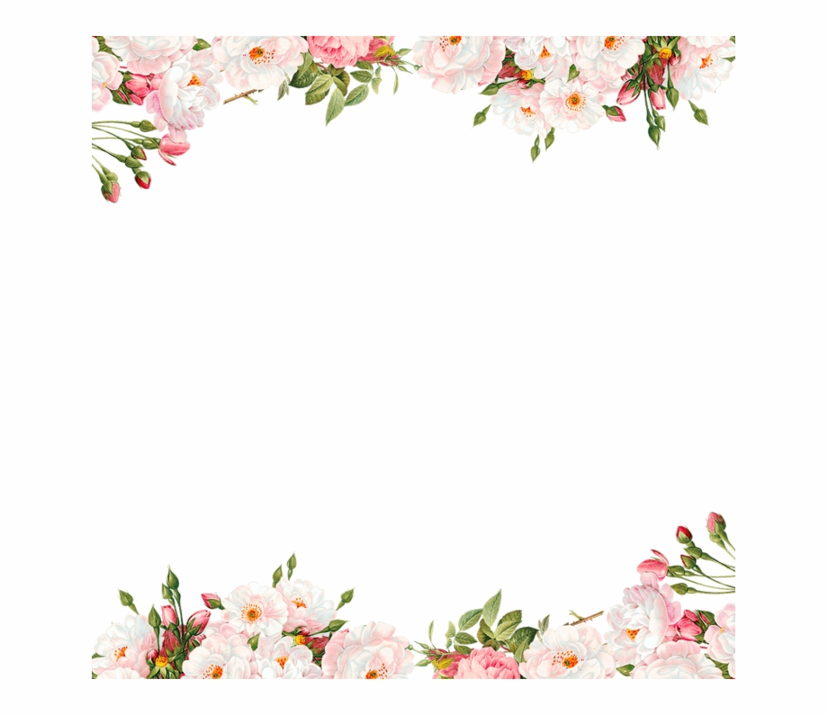 Watercolor floral border clipart clip free stock Watercolor Flower Border Png Free PNG Images & Clipart ... clip free stock