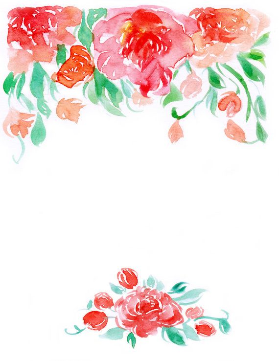 Watercolor floral border clipart banner freeuse Downloadable watercolor floral border 2 by WaternColour on ... banner freeuse