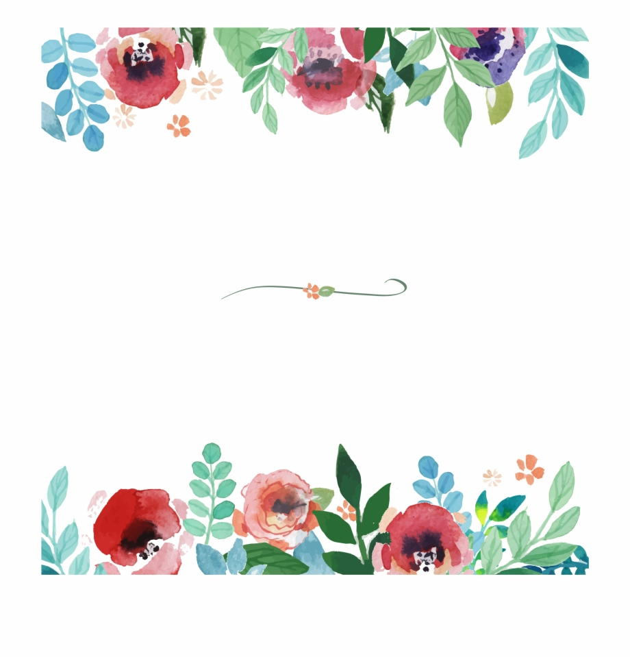 Watercolor floral border clipart svg library stock Watercolor Border Png - Vector Watercolor Floral Border Free ... svg library stock