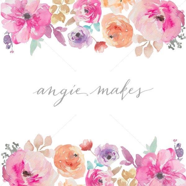 Watercolor floral border clipart graphic transparent library Colorful Painted Watercolor Flower Border Background graphic transparent library