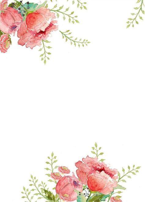 Watercolor floral border clipart vector library library watercolor floral border paper printable … | Do it | Borde… vector library library