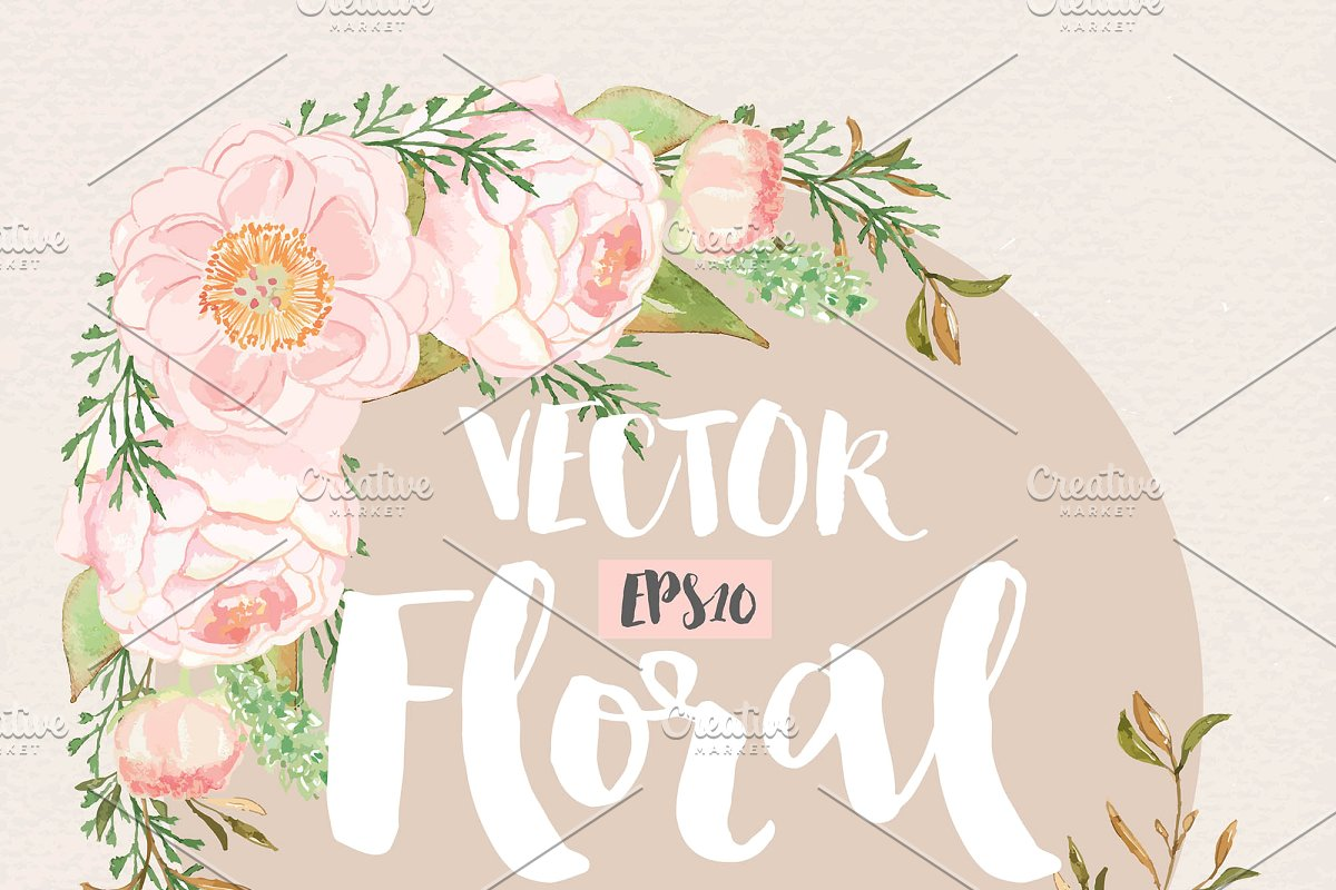 Watercolor floral wedding invitation clipart pink peonies clip library library Vector watercolor peony clip library library