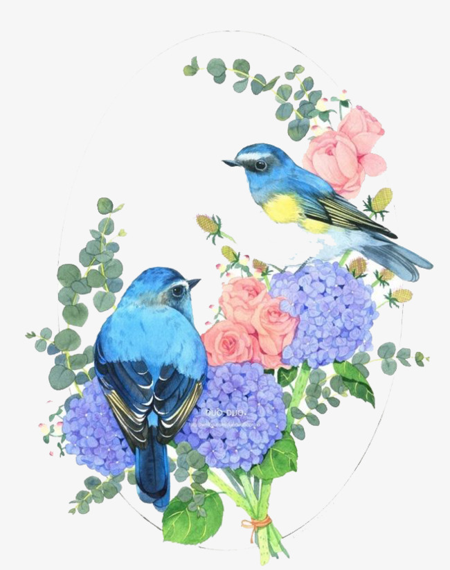 Watercolor flower bird clipart clipart library download Download Watercolor painting clipart Cross-stitch Taobao JD ... clipart library download