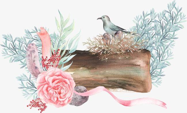 Watercolor flower bird clipart vector library download Bird Flowers , Bird Clipart, Clipart, Watercolor Flowers PNG ... vector library download