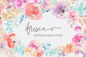 Watercolor flower clipart graphic transparent Watercolor flower clipart Photos, Graphics, Fonts, Themes ... graphic transparent
