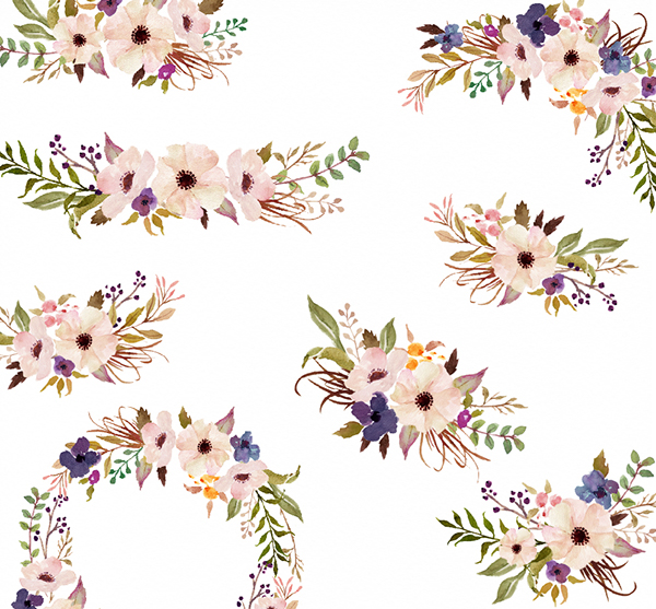 Watercolor flower clipart png freeuse library Watercolor flower Clip Art-Purple March/Individual PNG on Behance png freeuse library
