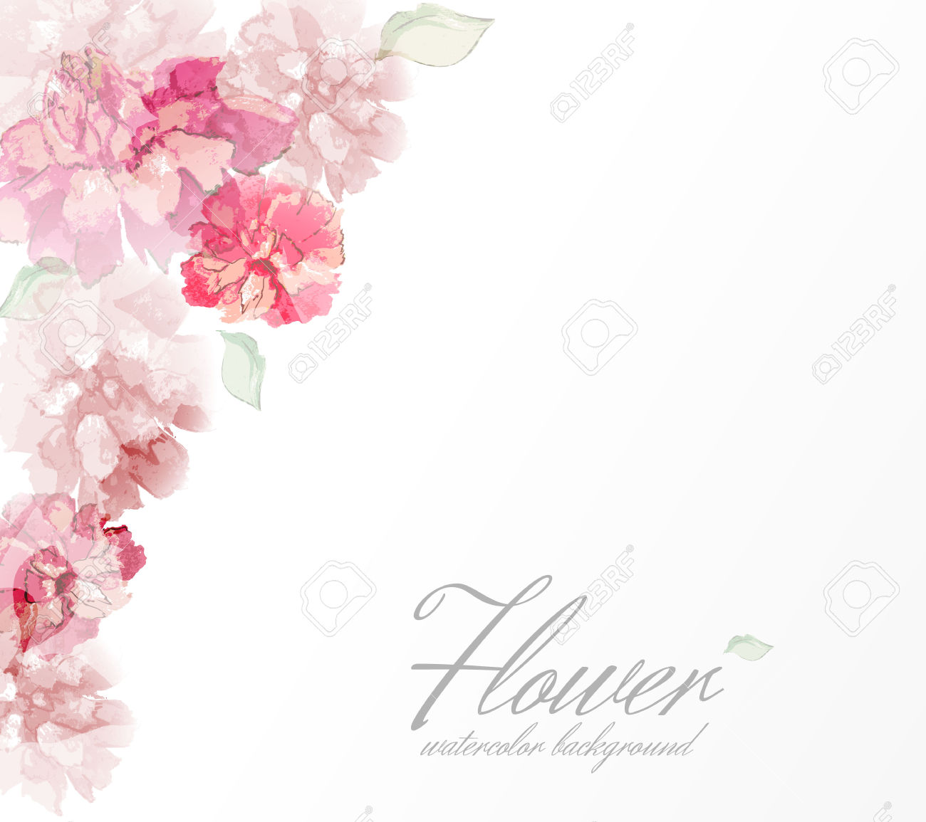 Watercolor flower clipart no background image library library Watercolor white flowers clipart transparent background free ... image library library