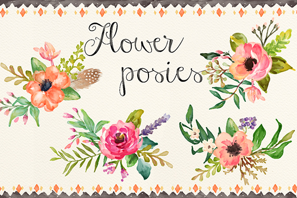 Watercolor flower clipart no background graphic free library Watercolor flower DIY pack Vol.2 on Behance graphic free library
