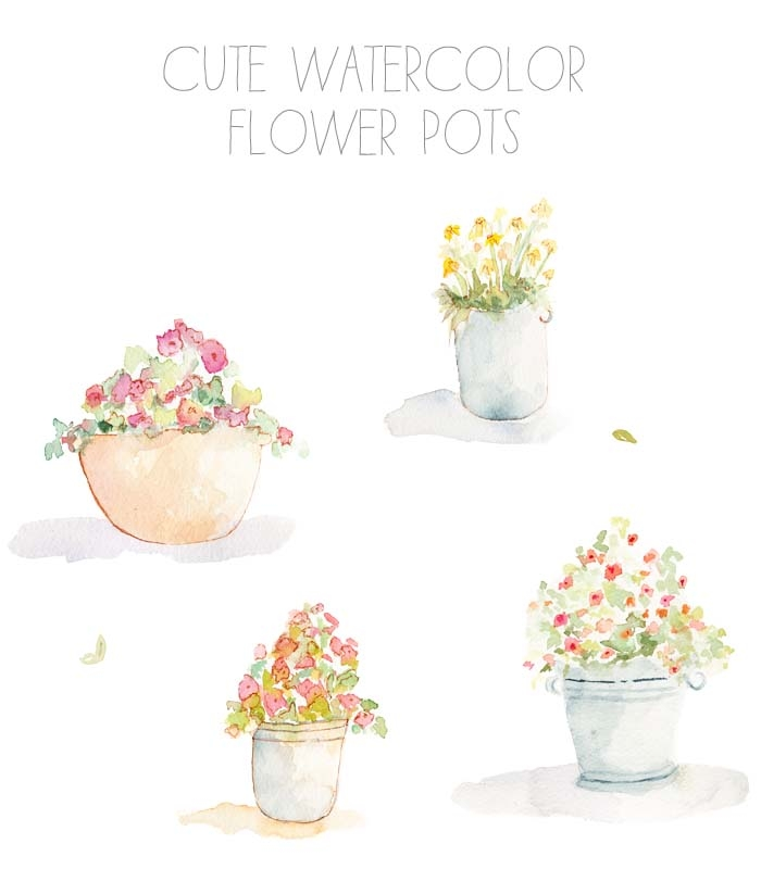 Watercolor flower clipart no background banner freeuse Flowerpot clipart no background - ClipartFest banner freeuse