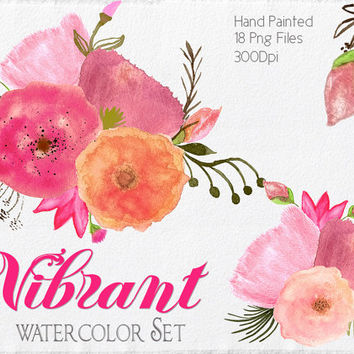 Watercolor flower clipart png