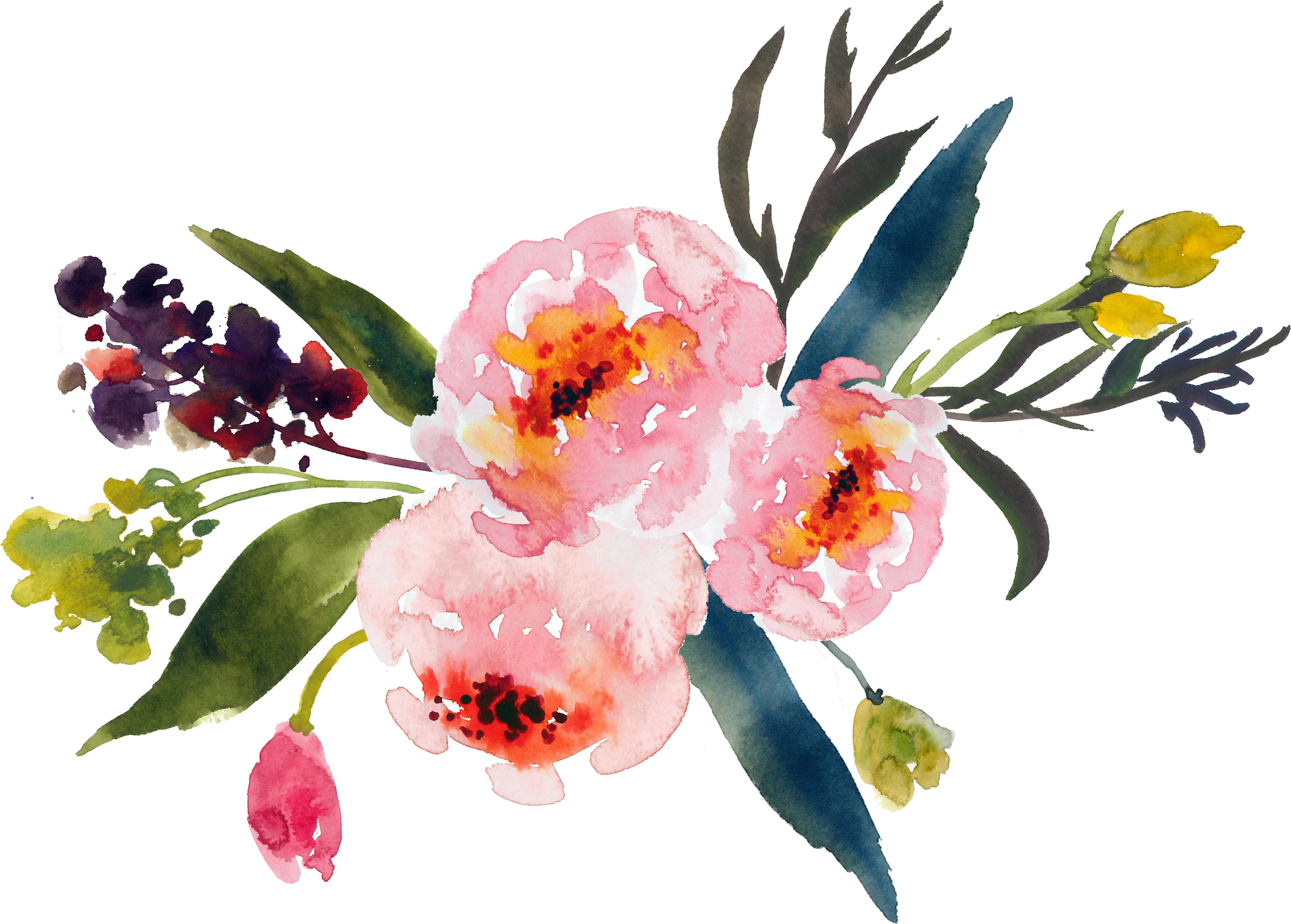 Watercolor flower clipart png picture transparent stock Flower bouquet Watercolor painting Clip art - watercolor flower 4842 ... picture transparent stock