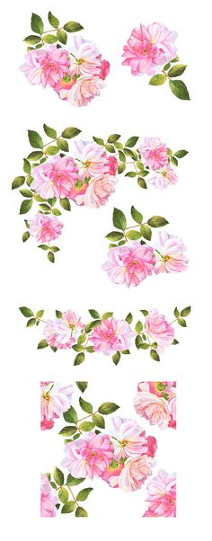 Watercolor flower pink clipart banner royalty free library 204 Best Watercolor flower clip art images in 2019 ... banner royalty free library