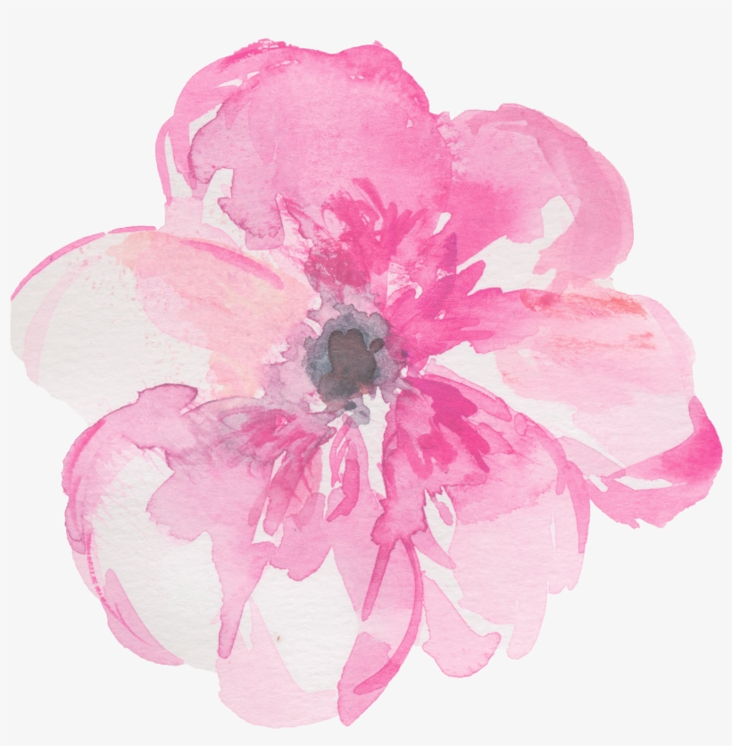 Watercolor flower pink clipart svg free Watercolour Flowers Watercolor Painting Clip Art - Pink ... svg free