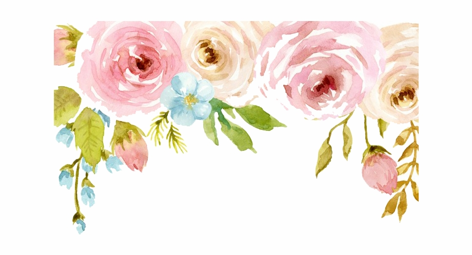 Watercolor flower pink clipart picture freeuse download Watercolor Flowers Png Free Download - Pink Watercolor ... picture freeuse download