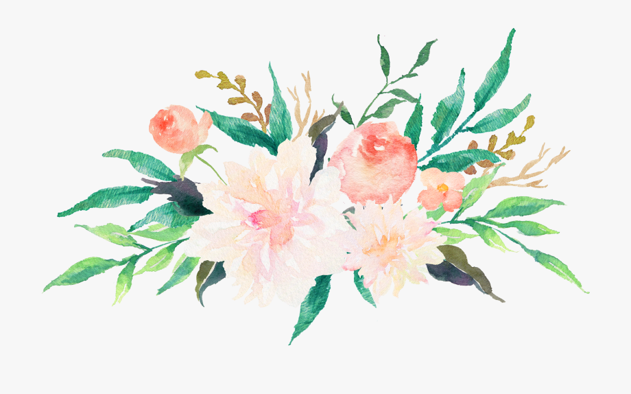 Watercolor flowers clipart free freeuse library Clip Transparent Library Free Watercolor Flowers Clipart ... freeuse library