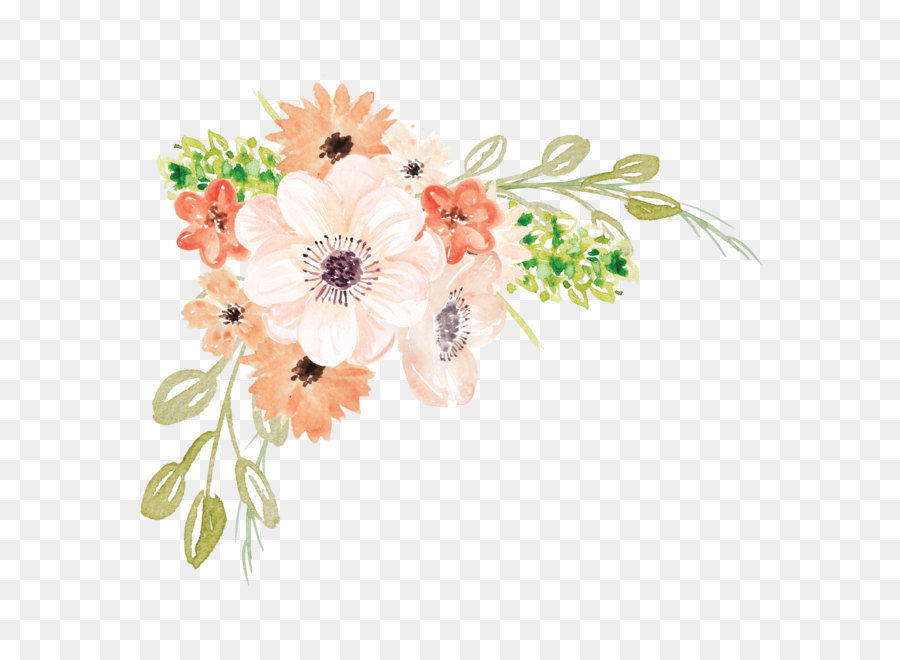 Watercolor flowers clipart transparent picture Watercolor painting Flower - Watercolor flowers png download ... picture