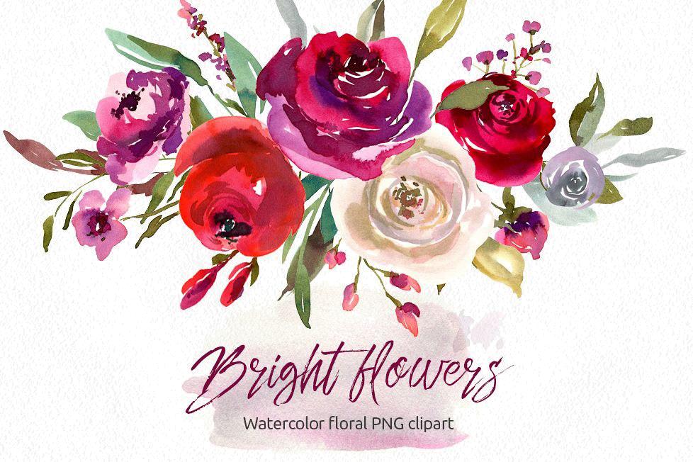 Watercolor flowers clipart transparent freeuse library Watercolor Flowers PNG Images Transparent Free Download ... freeuse library