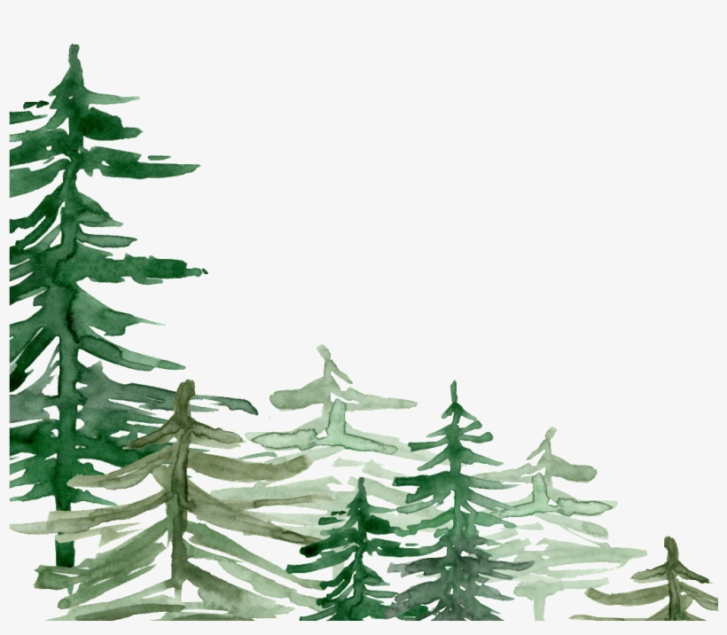 Watercolor forrist free clipart image freeuse library Green Watercolor Hand Painted Forest Transparent - Free ... image freeuse library