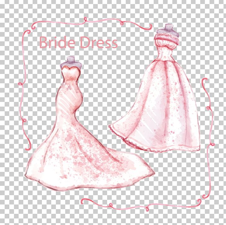 Watercolor gown clipart svg royalty free Euclidean Watercolor Painting Wedding PNG, Clipart, Bride ... svg royalty free