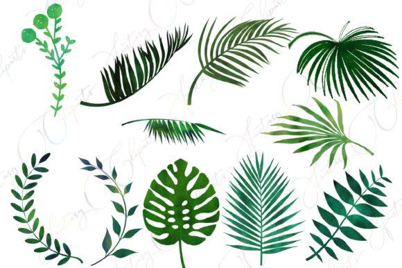 Watercolor greenery clipart vector royalty free download Watercolor Greenery Clipart vector royalty free download