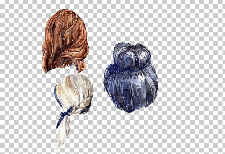 Watercolor hair clipart picture free Drawing Hairstyle Watercolor Painting Illustration PNG ... picture free