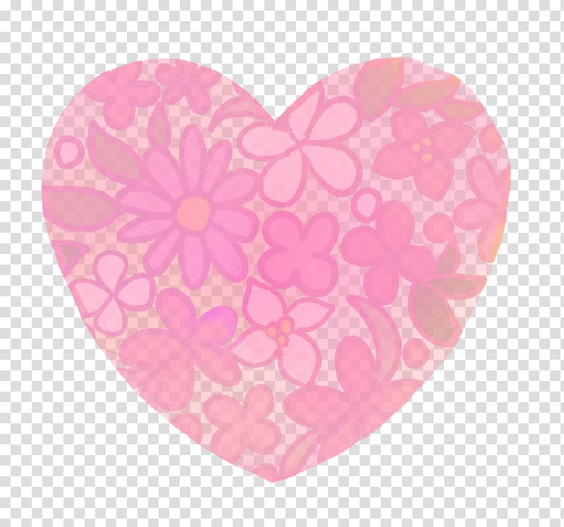 Watercolor hair clipart trans picture freeuse download Pink flowers, Hand-painted flower pattern watercolor heart ... picture freeuse download