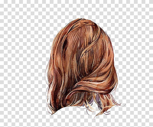 Watercolor hair styles clipart graphic transparent library Visual arts Hair Drawing Watercolor painting, Girls hair ... graphic transparent library