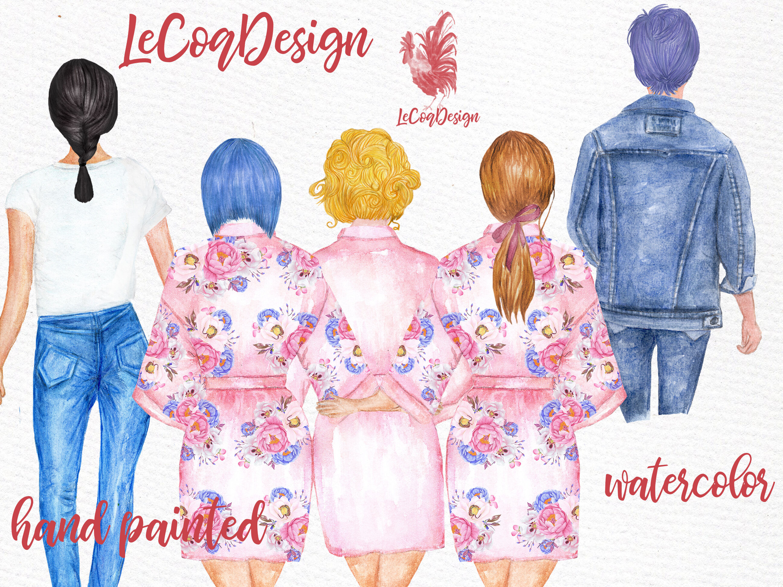 Watercolor hair styles clipart clipart royalty free Hairstyles clipart Custom hairstyle Watercolor hair styles ... clipart royalty free