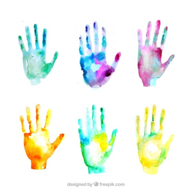 Watercolor hands clipart vector transparent library Hand Watercolor at PaintingValley.com   Explore collection ... vector transparent library