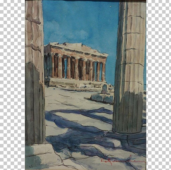 Watercolor history clipart graphic royalty free library Watercolor Painting Parthenon Drawing PNG, Clipart ... graphic royalty free library