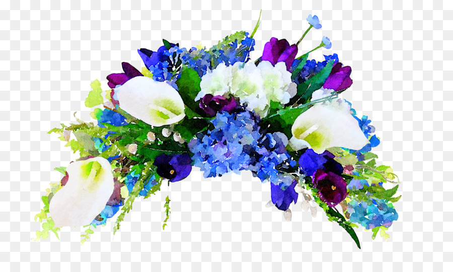 Watercolor hydrangea clipart royalty free download Blue Watercolor Flowers png download - 1500*873 - Free ... royalty free download