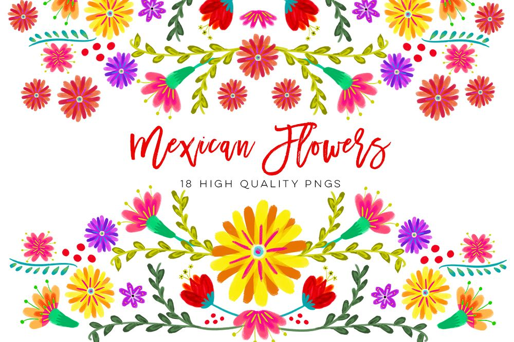 Watercolor laundry linen clipart png royalty free stock Mexican Watercolor Floral clipart, flowers fiesta clip art ... png royalty free stock