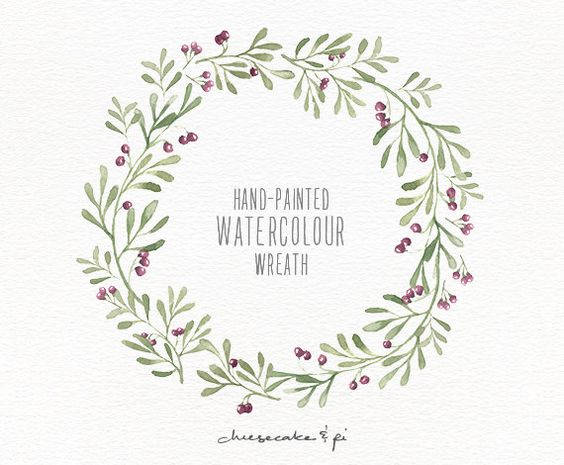 Watercolor lemon wreath free clipart png freeuse library Watercolor wreath: hand painted floral wreath clipart / Wedding ... freeuse library