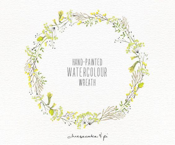 Watercolor lemon wreath free clipart png clip free download Watercolor lemon wreath free clipart png - ClipartFox clip free download
