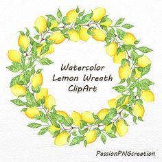 Watercolor lemon wreath free clipart png jpg transparent download Watercolor lemon wreath free clipart png - ClipartFest jpg transparent download