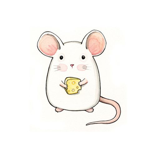 Watercolor mouse clipart jpg free library Watercolor Mouse at PaintingValley.com   Explore collection ... jpg free library