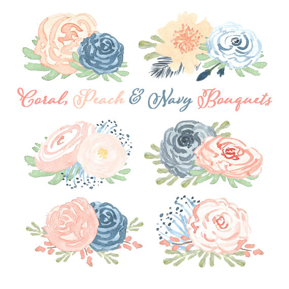 Watercolor blush and navy flowers clipart jpg transparent stock Free Blush Flower Cliparts, Download Free Clip Art, Free ... jpg transparent stock