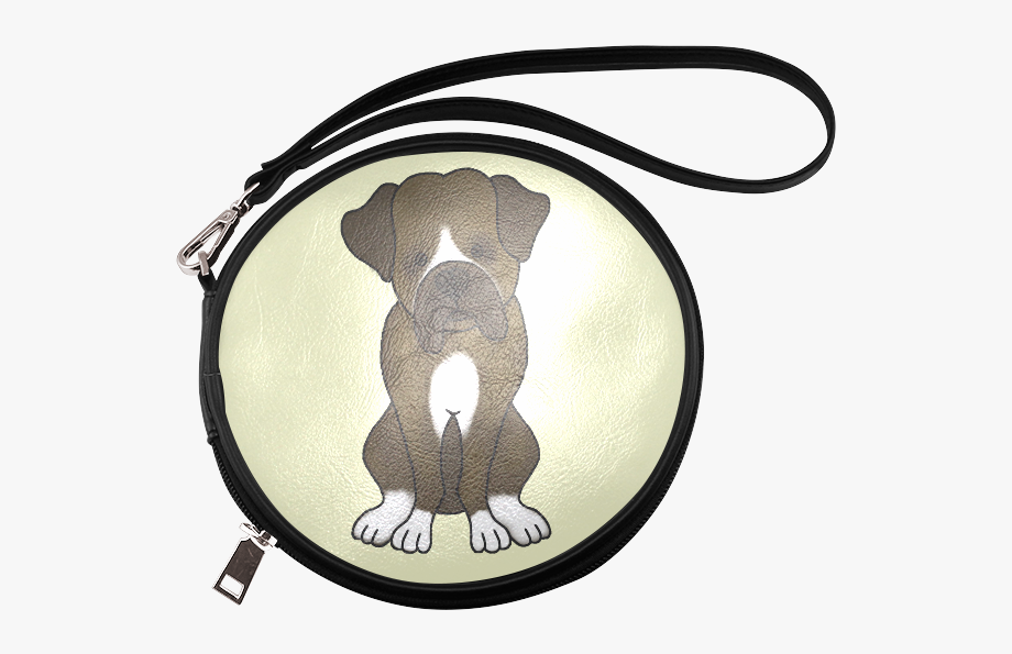Watercolor neapolitan free clipart vector transparent stock Boxer Puppy Dog Round Makeup Bag - Watercolor Painting ... vector transparent stock