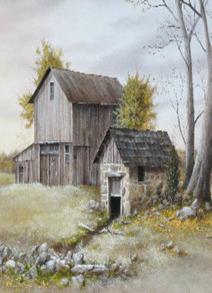Watercolor old barn clipart png download Old Barn Painting | A Love For Barns #2 | Barn art ... png download